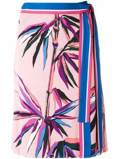 юбка с принтом пальм Emilio Pucci