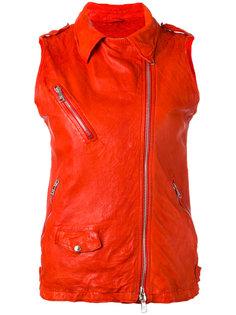 байкерская куртка без рукавов  Giorgio Brato