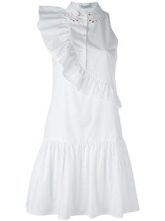платье с воротником в виде кистей рук Vivetta