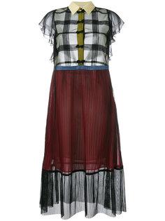 платье с панельным дизайном  Marco De Vincenzo