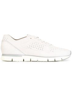 перфорированные кроссовки со шнуровкой Santoni