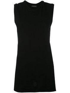 объемная футболка без рукавов Twin-Set