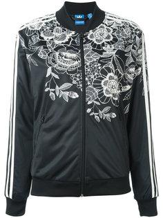 толстовка с цветочным принтом на молнии Adidas Originals