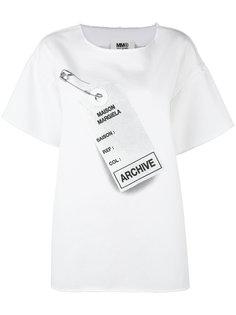 футболка свободного кроя с принтом Archive Mm6 Maison Margiela