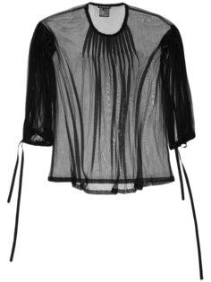 прозрачная блузка с плиссировкой Ann Demeulemeester