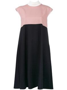 платье-шифт в стиле колор-блок Jil Sander Navy