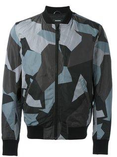 куртка бомбер с геометрическим узором Diesel