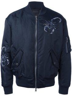 куртка бомбер с вышивкой Diesel Black Gold