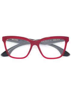 очки в квадратной оправе Miu Miu Eyewear