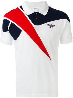 трехцветная футболка-поло  Reebok