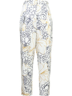 floral high waisted trousers  Roksanda