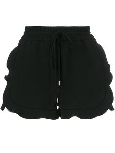 шорты на завязках с оборками по бокам Carven