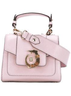 сумка через плечо с фирменной бляшкой Trussardi