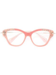 очки в оправе кошачий глаз Miu Miu Eyewear