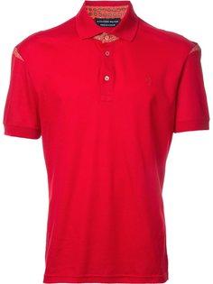 футболка-поло с контрастной вставкой Alexander McQueen