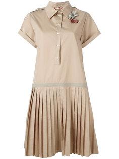 плиссированное платье-рубашка  Nº21