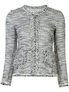 frayed-edge blazer jacket Rebecca Taylor