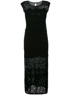 длинное вязаное крючком платье Twin-Set
