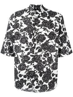 рубашка с короткими рукавами и принтом роз MSGM