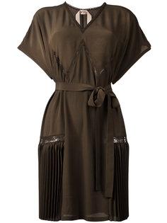 платье шифт с плиссировкой  Nº21