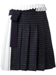 плиссированная юбка в полоску Victoria Victoria Beckham