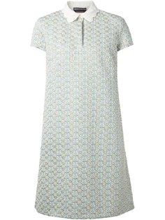 платье-шифт с вышивкой Rochas