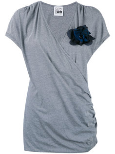 футболка с запахом Twin-Set