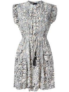 плиссированное платье  с животным принтом Just Cavalli