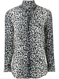 рубашка Paris collar с абстрактным принтом  Saint Laurent
