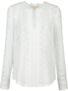 embroidered silk blouse  Rebecca Taylor