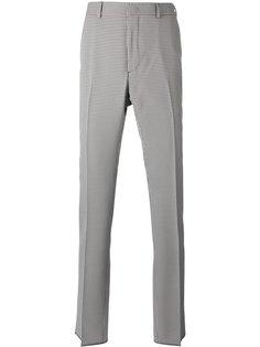 классические брюки в клетку гингем Fendi