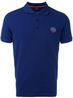 футболка-поло с заплаткой в форме облака Fendi