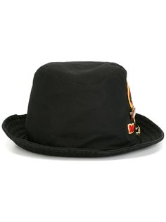 шляпа-трилби с заплаткой Dsquared2