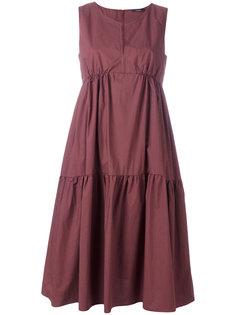 платье без рукавов с оборками Odeeh