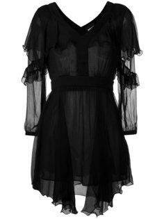 прозрачное платье с асимметричным подолом Just Cavalli
