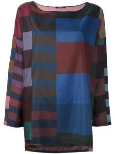 шелковая блузка с геометрическим узором Odeeh