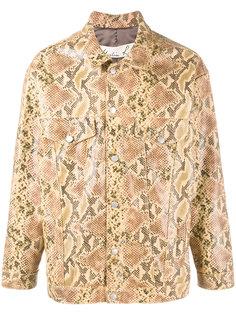 куртка свободного кроя с эффектом змеиной кожи  Martine Rose
