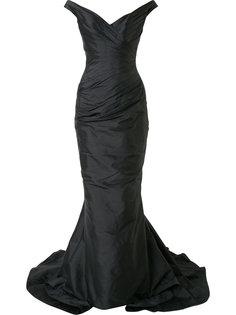вечернее платье  с открытыми плечами Romona Keveza