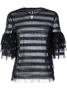 блузка в полоску с пайетками Huishan Zhang