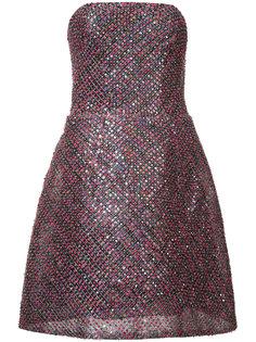 sequin strapless dress Monique Lhuillier