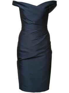 off shoulder dress Monique Lhuillier