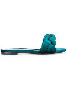 плетеные открытые сандалии Marco De Vincenzo
