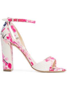 floral print sandals  Monique Lhuillier