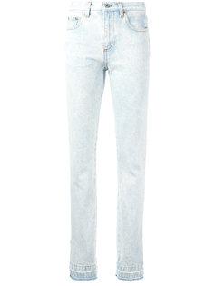 джинсы с клешем ниже колена  MSGM
