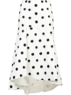 dotted flared skirt  Monique Lhuillier
