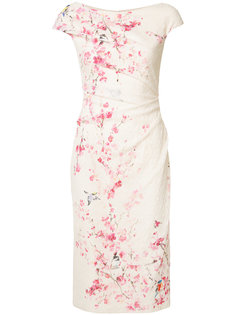 floral print dress Monique Lhuillier