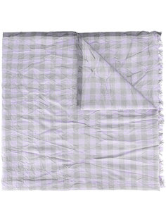 шарф в клетку с мятым эффектом Brioni