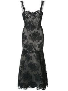 lace maxi dress Monique Lhuillier