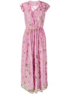 платье с оборками  Ashish