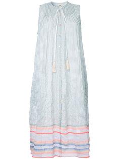striped pleated dress Lemlem